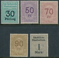 Stamp Germany Reich Prussia Revenue Railroad Bavaria Train Selection MNH