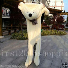 200cm White Big Cute Plush Teddy Bear Skin Semi-Finished Products Toy Doll Gift