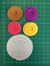D032 Quilling Roll Up Flower Circle Cutting Die Suit for Sizzix Etc. Machine