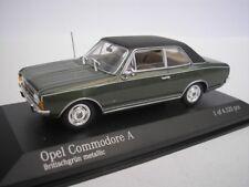 OPEL COMMODORE A 1966 britsch Verde Metálico 1/43 Minichamps 430046160 NUEVO