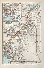 Landkarte map 1905: KAMERUN. Küste von Kamerun. Maßstab: 1 : 6.000 000 Africa