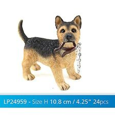 Alsatian / German Shepherd Puppy Standing Walkies Figurine Dog Ornament New