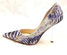 New Authentic Guess Pumps By Marciano Carrielee4 Silver/Blue Glitter 8
