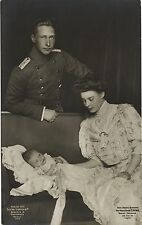 PHOTO CP VINTAGE : GUILLAUME II PRUSSE Willhelm KRONPRINZ, CECILIE et enfant