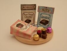 Dolls house food:Chocolate shop bags of assorted chocolates  -By Fran