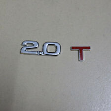 1x Metal Chrome 2.0T Emblem Sticker Badge Decal Turbocharged Auto Engine 3D Car