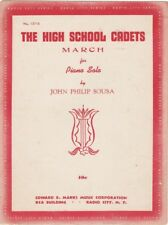 The High School Cadets March for Piano Solo, John Philip Sousa, 1920's