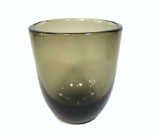 60er vaso vetro fumo TAZZA VASO Smoke Finnish Glass Finlandia
