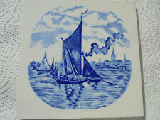 27343 Kachel Lastkahn Hamburg  Fliese tile very good Teichert