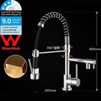 WELS Chrome Spring Kitchen Faucet Pull Down Spout Sink Mixer Tap Deck Mount