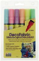 Marvy Uchida DecoFabric Opaque Fabric Marker Fluorescent Set 3mm Bullet Point