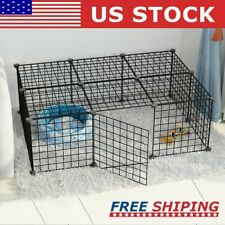 16 Panel Pet Fence Indoor Heavy Duty Metal Playpen Cat Dog Kennel Exercise Cage