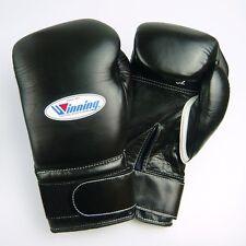 New Winning MS-600B Boxing Gloves 16 oz Velclo Pro type Black Fast Shipping