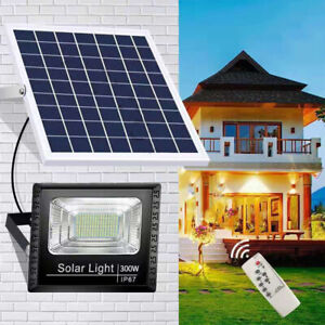 Waterproof Solar Powered LED Floodlights Wall Security Light Garden Outdoor Lamp