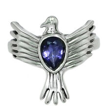Pigeon - Iolite - India 925 Sterling Silver Ring Jewelry s.6.5 AR141204