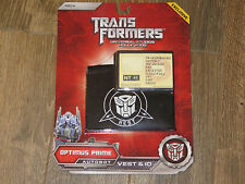 NEW Universal Studios Hollywood Exclusive Transformers Optimus Prime Vest & ID