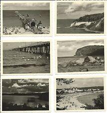 1 Konvolut von 6 originalen Fotografien BINZ um 1931, Fotos Insel Rügen 9x6 cm