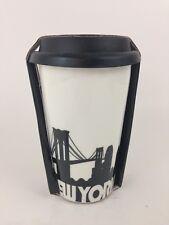 New listing Ciroa Double Walled Porcelain Ceramic Travel Mug New York City Skyline Nyc New