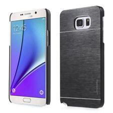 Motomo Hard Case Aluminium Brushed Metall Schwarz für Samsung Galaxy Note 5