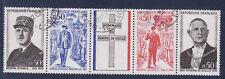 bande general de Gaulle 1971   num: 1695/98   oblitéré /4