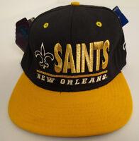 f6908d505 NEW ORLEANS SAINTS VINTAGE HAT CAP RETRO NFL FOOTBALL FITTED CLUTCH DREW  PEARSON