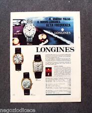 N351 - Advertising Pubblicità - 1968 - LONGINES ALTA FREQUENZA ULTRA CHRON