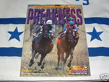 """SMARTY JONES HORSE RACING 2004 PREAKNESS STAKES PROGRAM & 8"""" by 10"""" PHOTO"""