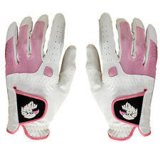 NEW Aquila Ladies Golf Glove Pair - Left & Right Hand - White/Pink - Extra Small