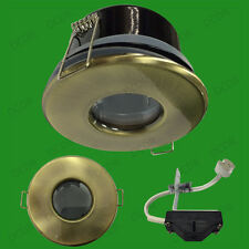 4x Antique Brass IP65 LED Shower Bathroom Light MR16 Ceiling Spot Downlight Lamp