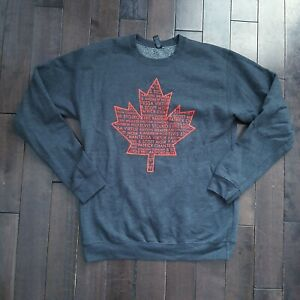 Mens Canadian Olympics Thank You Tour Grey Sweater Small