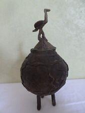 Ancienne Urne Funéraire Africaine Bronze Pot à onguent Ethnique