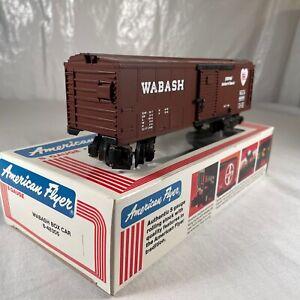 S Gauge American Flyer Lionel 6-48305 WAB Wabash Railroad Box Car #48305