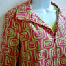 600 West Funky Bright Lime Green and Hot Pink Womens Zipper Jacket w/BONUS TEE!
