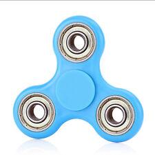 Small Cheap Finger Tri-Spinner Fidget Top Gyro Anti Stress EDC Focus Toy Blue