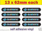 10 shimano Decals fd reel rod chain cassette xt shifters adhesive vinyl Stickers