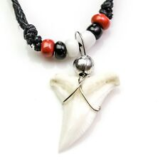 Blue shark tooth necklace red black white manchester united st kilds F.C c149