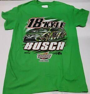 Kyle Busch  #18 Interstate Batteries Green Nascar T-shirt, X-Large