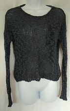 Hollister Blue-Gray Lumpy Variegated Sweater Size XS/S Juniors