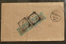 Malaya 1903 cover Fed States Tiger Stamps 3v fine TAPAH canc to  PENANG
