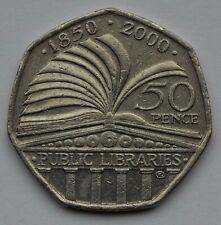 2000 PUBLIC LIBRARIES 50p COIN