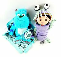 Disney Parks Store Monsters Inc Sully Boo Plush Doll Babies Blanket Lot Set RARE