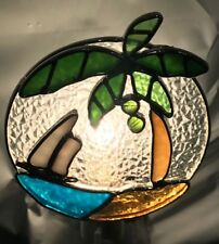 Stained Glass Palm Tree with Boat Night Light New [9009-82]