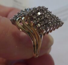 Woman's 1.00tcw Gen Diamond, in Crafted Two/Tone 10 ktGold, NIB, Size 7, $1,779.
