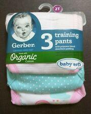 New Gerber Organic Cotton Reusable Training Pants 3 Pack 2T 3T Potty Training
