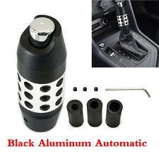 Black Aluminum Automatic Car Gear Stick Shift Shifter Lever Knob Black W/Button