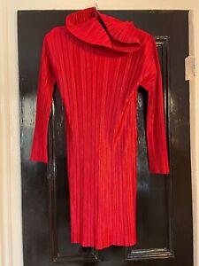 Pleats Please Issey Miyake Tunic/ Dress Red Size 8-10