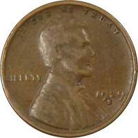 1929 S 1c Lincoln Wheat Cent Penny US Coin Average Circulated