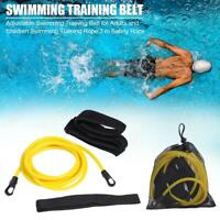 Adjustable Swim Training Resistance Belt 3m Safety Strap Rope Swimming Pool Tool