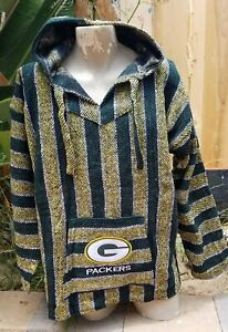Mexican NFL Green Bay PACKERS Baja hoodie pullover sweater Large