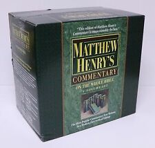 MATTHEW HENRY'S COMMENTARY ON THE WHOLE BIBLE 6 VOLUMES